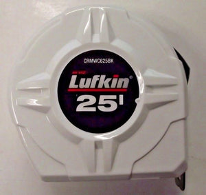 Lufkin CRMWC625BK 25' White Chrome Power Tape Measure