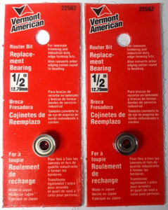 "Vermont American 22562 1/2"" O.D. Replacement Bearing 2PKS"