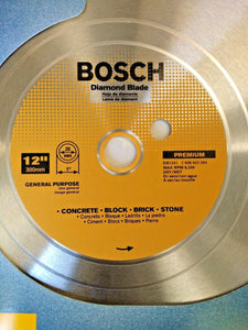 "Bosch DB1241 12"" Premium Dry / Wet Cutting Segmented Diamond Saw Blade"