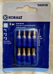 "Kobalt 1873536 8-Pack 1"" Assorted Square Drive Screw Bits"