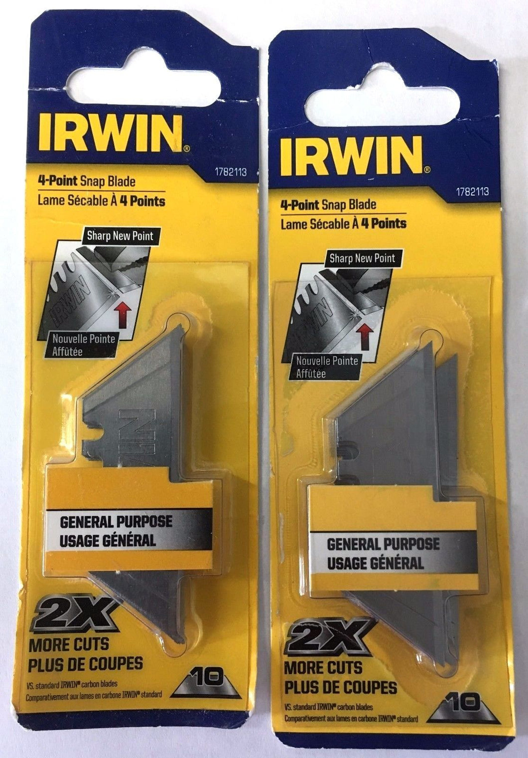 IRWIN 1782113 4-Point Carbon Utility Blades 2-10 Packs