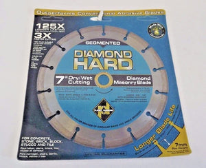 "Planet Diamond 21307030 7"" Seg. Diamond Masonry Saw Blade"
