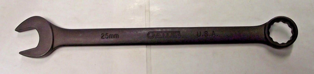 Allen 20325B 25mm 12 Point Combination Wrench Black Phosphate USA