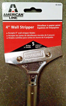 "American Line 4"" Heavy Duty Wall Scraper 66-0434 With 5 Extra Blades In Handle"