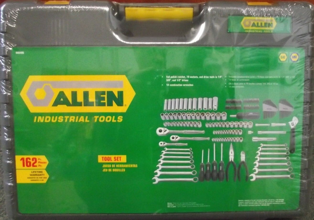 Allen 66649G 162 Piece Tool And Socket Set SAE / Metric