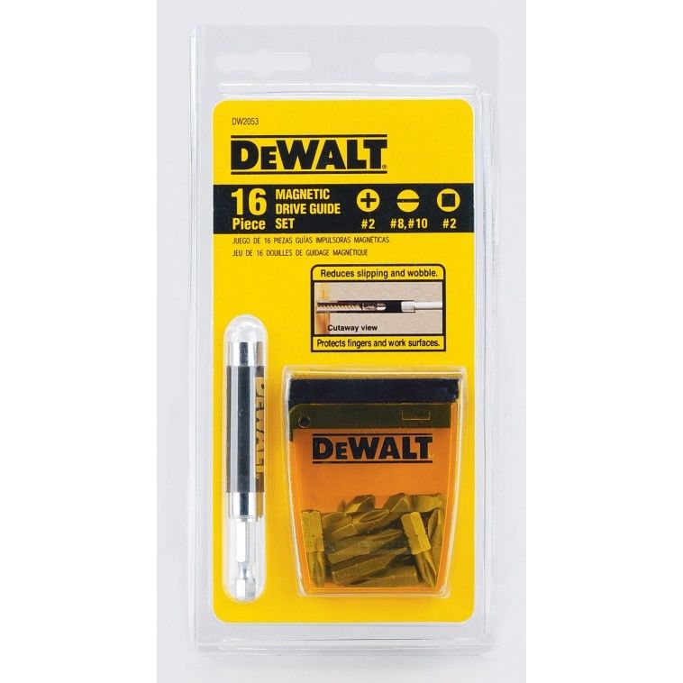 Dewalt DW2053 16 Piece Magnetic Drive Guide Set