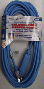 Century D15636008 26.2 FT. Sub Zero Heater Block Extension Cord Triple Lighted