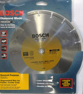"Bosch DB1041C 10"" Premium Plus Diamond Saw Blade 7/8"" & 5/8"" Arbor"