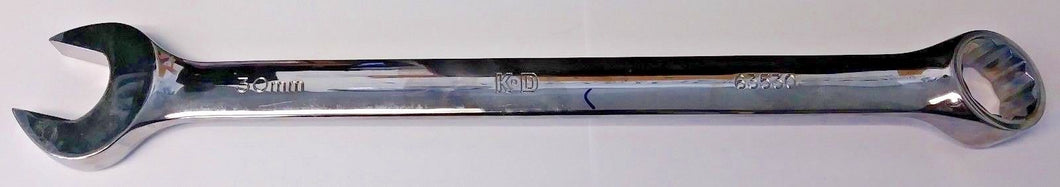 KD Tools 63530 30mm Combination Wrench 12 Point Polished Chrome USA