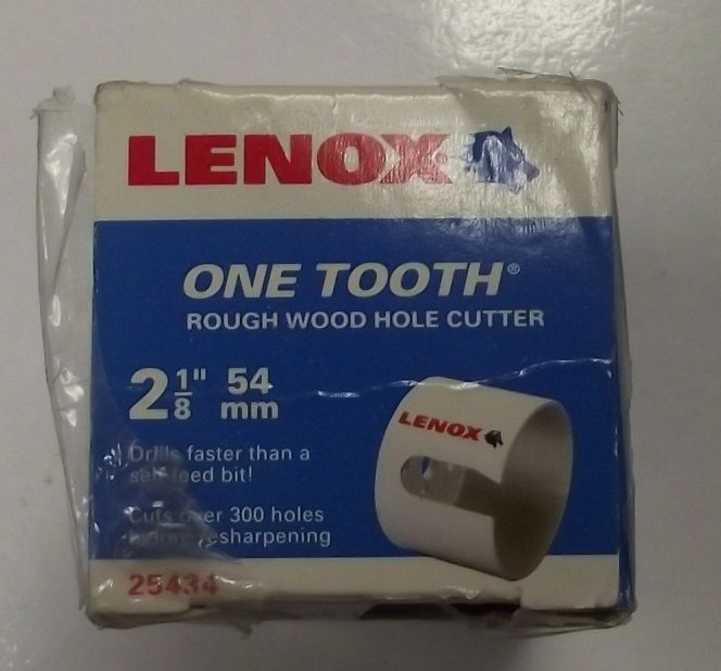 Lenox 25434-34HC One Tooth Rough Wood Hole Cutter 2-1/8