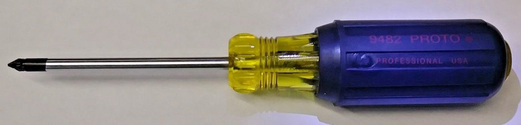 Proto 9482 Steel Screwdriver with 3