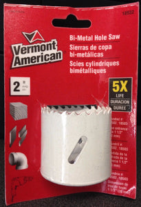 "Vermont American 18532 2"" HSS Bi-Metal Hole Saw"