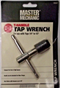 "Master Mechanic 788644 T-Handle Tap Wrench 1/4-1/2"" Capacity"