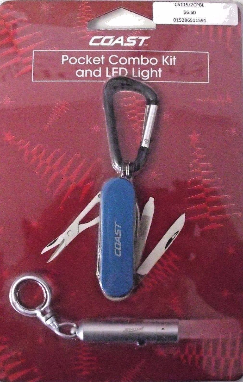 Coast C5115/2CP BLUE Pocket Combo Knife and LED Flashlight