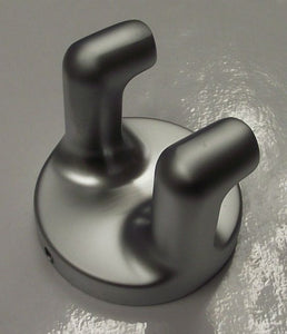 Taymor 04-SC8402 Infinity Double Hook Satin Chrome Robe Hook