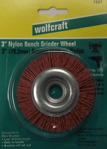 "Wolfcraft 1507 3"" Nylon Wheel Bench Grinder Wheel Germany"