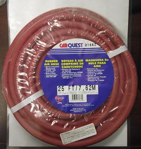 "Carquest 31662 25ft Rubber Air Hose 3/8"" I.D. 1/4"" Male NPT USA"