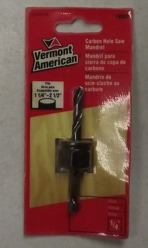 Vermont American 18303 Carbon Hole Saw Mandrel 1/4