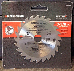 "Black & Decker BDA8324 Matrix 3-3/8"" x 24 Carbide Teeth Wood Cutting Saw Blade"
