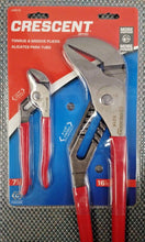 "Crescent C2PCTG - 2 Piece 7"" & 16"" Tongue And Groove Pliers Set"
