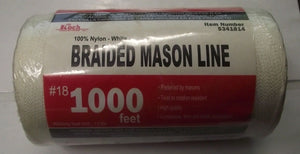 Koch Industries 5341814 Twisted Mason Line #18 By 1000 Feet White