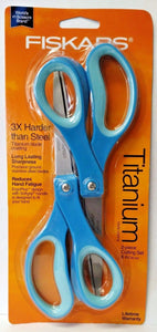 "Fiskars 154090-1004 8"" Everyday Titanium Scissors 2 Pack ASSORTED COLORS"
