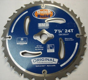 "Original Iwasaw BMD QBCSB24T 7-1/4"" x 24T Saw Blade 5/8"" Arbor Japan"