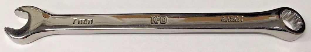 KD Tools 63507 7mm Combination Wrench 12 Point Polished Chrome USA