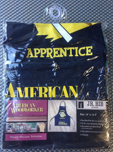 "American Woodworker 113 JR. Bib Shop Apron 18"" x 14.5"""