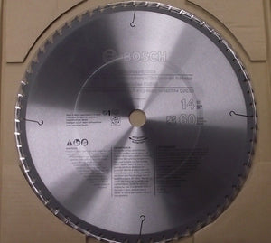 "Bosch PRO1460CHB 14"" x 60T Chipboard/Osb/Plastic Precision Carbide Saw Blade"