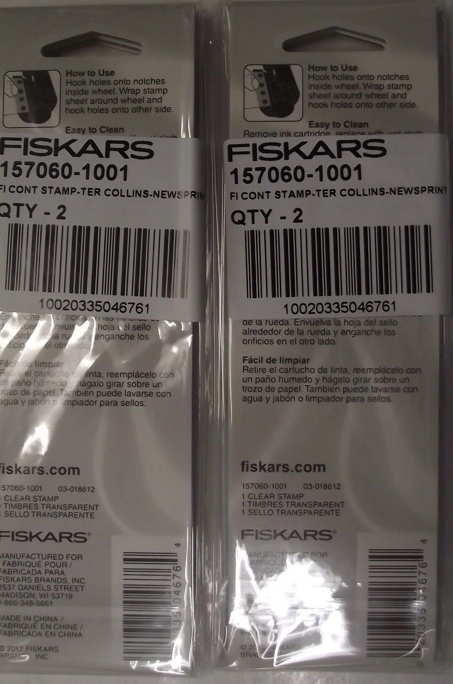 Fiskars 157060 F1 Continuous Stamps Teresa Collins Newsprint 4pcs.