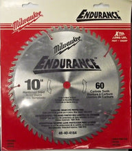 "Milwaukee 48-40-4164 10"" x 60 Tooth Carbide Saw Blade 5/8 Arbor"