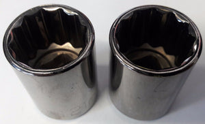 "Armstrong 39-121 1/2"" Drive 12 Point Standard Socket 21mm USA 2PCS"