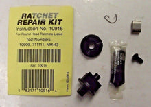 "Allen 1/4"" Dr Ratchet Repair Kit for Round Head Ratchets Instructions 10916 USA"