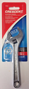 "Crescent AC16V 6"" Adjustable Wrench EX Wide Cap"
