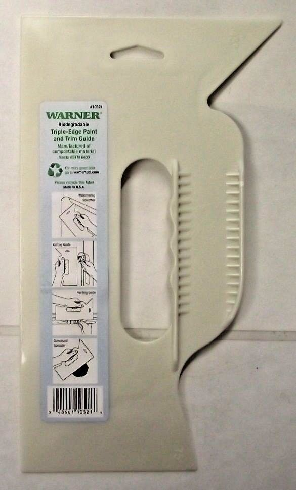 Warner 10521 Triple Edge Paint And Trim Guide USA