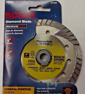 "Bosch DB463 Premium Plus 4"" Turbo Continuous Rim Diamond Saw Blade"