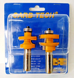 Carb Tech AY11K  Stile & Rail Set-Round Over Router Bits 2 Pack