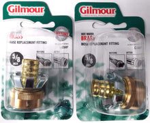 Gilmour C58F 5/8 Hot Water Brass Hose Clinch Coupler Gilmour Hose Repair 2PKS