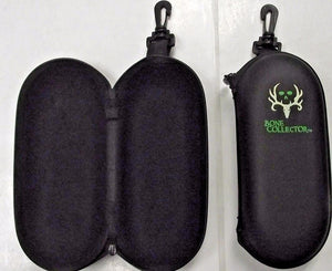 Bone Collector BC-PU Zippered Sunglass Case With Green Eyes