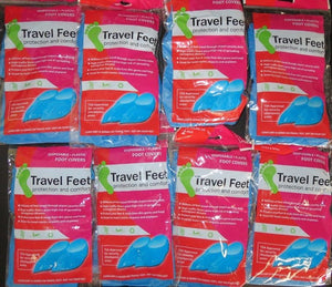 Travel Feet 0377 Disposable Non-Skid Blue Foot Covers TSA Approved 8(2 PKS)