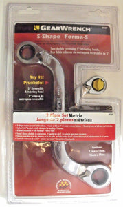 Gearwrench 87102 2 Piece Metric S Pattern Wrench Set