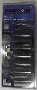 Armstrong 15-326A 9pc Deep Fractional Socket Set 12pt USA