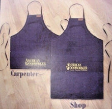 "American Woodworker 125 2 in 1 Carpenter Shop Apron Denim 25"" x 26"" & 25"" x 39"""
