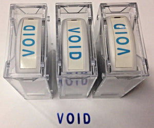 "Global AGI-SS02000 Rectangle Stock Pre-Inked Rubber Stamp With ""VOID"" 3pcs."