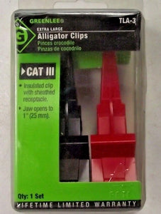Greenlee TLA-3 Extra Large Alligator Clips CATIII