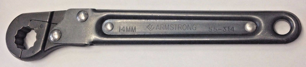Armstrong 55-314 14mm Ratcheting Flare Nut Wrench USA