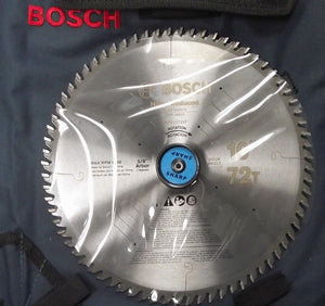 "Bosch PRO1072VF 10"" x 72 Tooth Noise Reduced ATB Carbide Saw Blade"