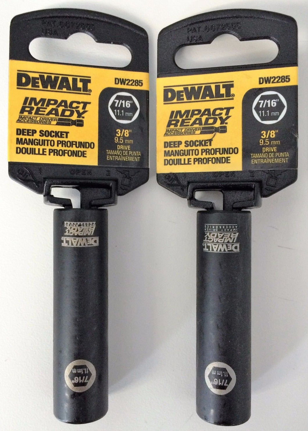 Dewalt DW2285 Impact Ready Deep Socket 7/16