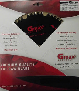 "Gmaxx 2400.100N50 10"" x 50 Tooth Negative Hook Carbide Saw Blade Germany"